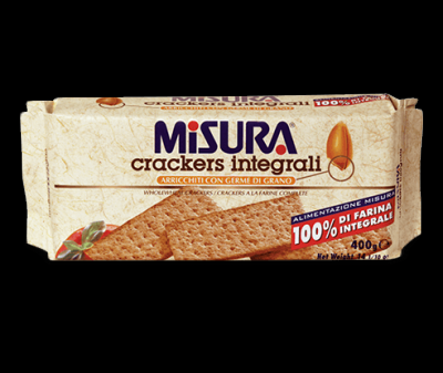 WHOLEWHEAT CRACKERS MISURA 385GR