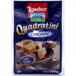 WAFER LOACKER CHOCOLATE SQUARES 250GR
