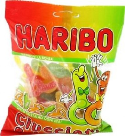 CARAMELLE HARIBO DUMMY SHAPED SPARKLY 200GR